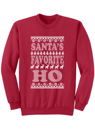 "NEW ""SANTA'S HO"" CREW NECK SWEATSHIRT"