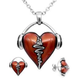 HeartBeat Necklace & Earrings Set