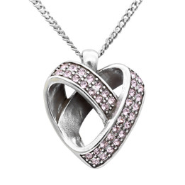 Silver Plated Infiniti Heart Necklace