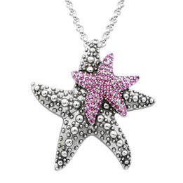 Silver Plated Daughterly Love Starfish Necklace