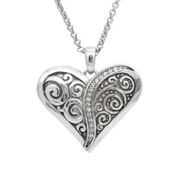 Sliver Plated Unified Love Heart Necklace