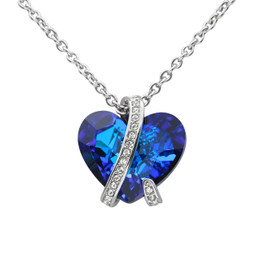 Bermuda Blue Captivated Heart Necklace