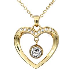 Golden Love Heart Necklace