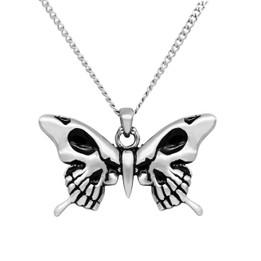 Skull Wings Butterfly Necklace