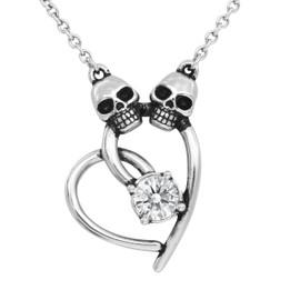 Skull Heart Necklace - Lovely Bones