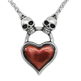 Skull Heart Necklace - Pure Hearts Will Find You