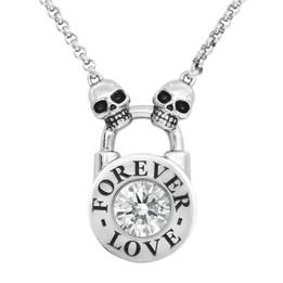 Skull Lock Necklace - Forever Love
