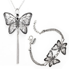 Gossamer Wings Butterfly Necklace & Bracelet Set