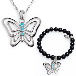 Frivolous Pursuits Butterfly Necklace & Bracelet Set