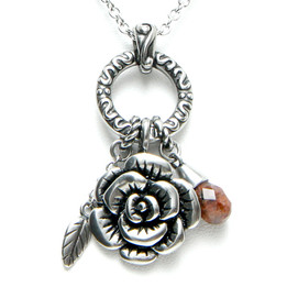 The Charmed Rose Necklace