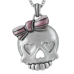 Badass Skull in Pink Necklace