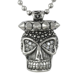 Skull and Spikes - White