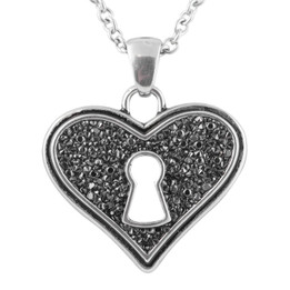 Bejeweled Heart Necklace
