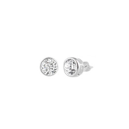 Sterling Silver CZ Stud Earring - 3MM