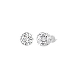 Sterling Silver CZ Stud Earring - 4MM
