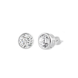 Sterling Silver CZ Stud Earring - 5MM