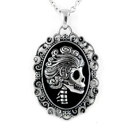 The Ghoulish Damsel Cameo Necklace