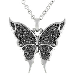 Black & Bright Butterfly Necklace