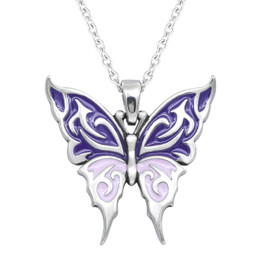 Lilac Butterfly Necklace