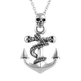 Octo-Skull Anchor Necklace