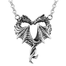 Steamin' Hot Love Dragon Heart Necklace
