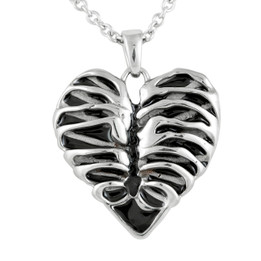 Heart Rib Cage Necklace