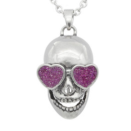 Love In Your Eyes Skull Necklace