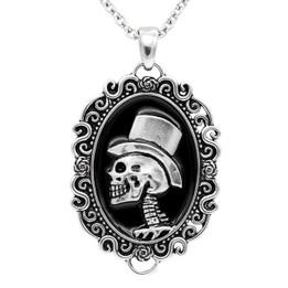The Gentleman Skull Cameo Necklace