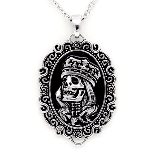 Skull Cameo Necklace Madonna Pendant Stainless Steel Jewelry by Controse
