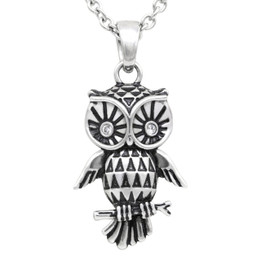 "Owl Necklace ""Sparkly-Eyed Owl"", Bird Pendant Adorned with Swarovski Crystals"