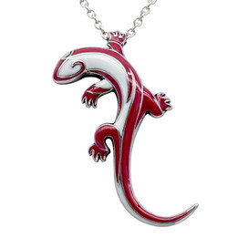 Tribal Lizard Necklace (RED)