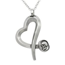 Skull Nail Heart Necklace