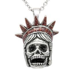 Liberty Skull Necklace