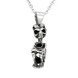 goat man skeleton necklace