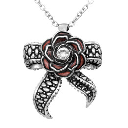 Rose Necklace with Tentacle Bow