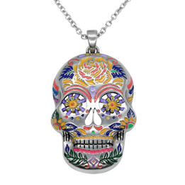 The Floral Sugar Skull Necklace