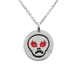 Angry Skull Emoji Necklace With Swarovski Crystal