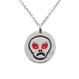 Angry Skull Emoji Necklace With Swarovski Crystal