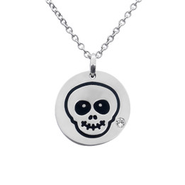 Happy Skull Emoji Necklace With Swarovski Crystal