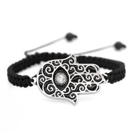 Hamsa Hand Woven Bracelet