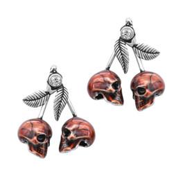Cherry Skulls Earrings