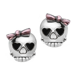 Bejeweled Badass in Pink Skull Earrings
