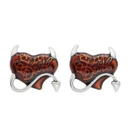 Sexy Devil Red Heart Earrings