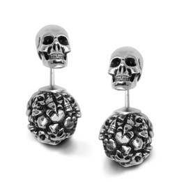 Captivated Souls Heart Skull Earrings