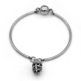 Fleur-de-Lis Bangle with Magnetic Clasp