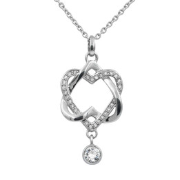 Love Interlaced Heart Necklace