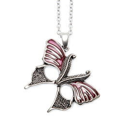 Magenta Butterfly Mask Necklace