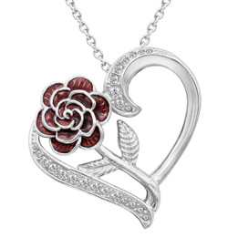 Rosa Dell'Amore Heart Necklace