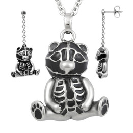 Teddy Sitting Pretty Necklace & Earrings Set