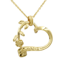 24K Gold Plated Stainless Steel Garden Heart Necklace